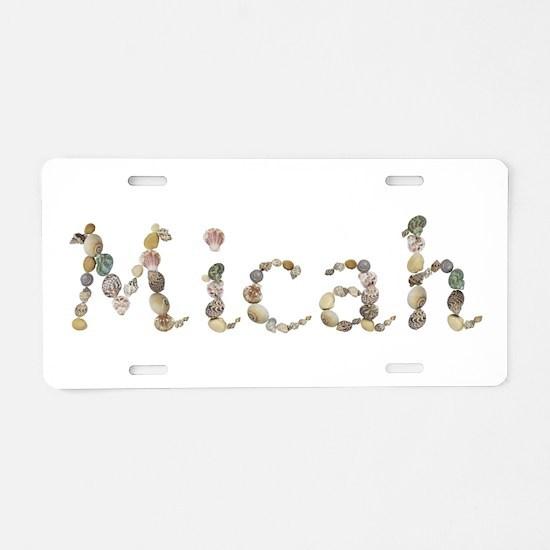 Micah Seashells Aluminum License Plate