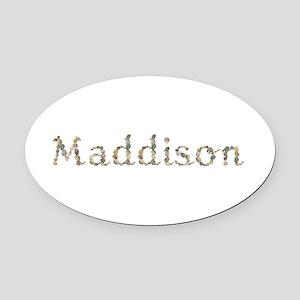 Maddison Seashells Oval Car Magnet