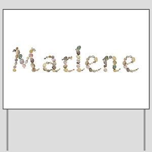 Marlene Seashells Yard Sign