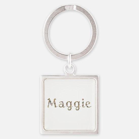Maggie Seashells Square Keychain