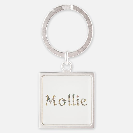 Mollie Seashells Square Keychain