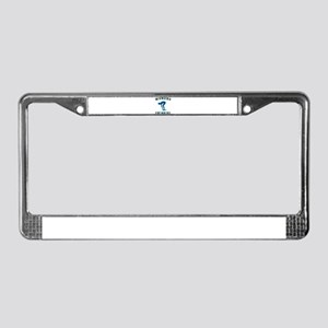 Blue Women's Swimming Logo License Plate Frame