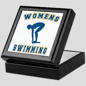 Blue Women's Swimming Logo Keepsake Box