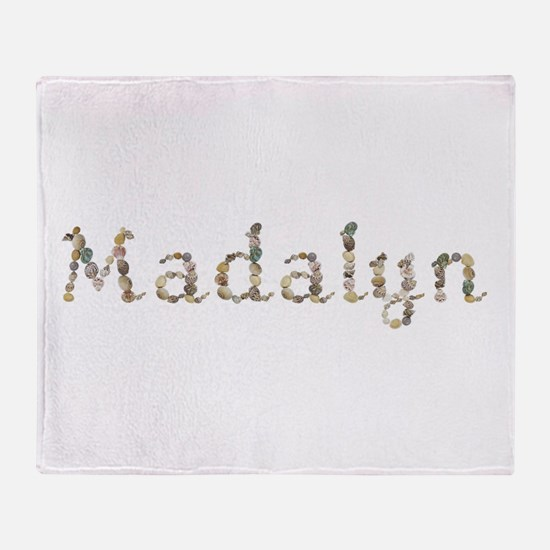 Madalyn Seashells Throw Blanket