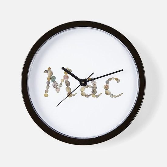 Mac Seashells Wall Clock