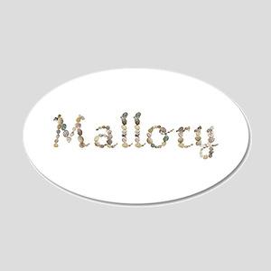 Mallory Seashells 20x12 Oval Wall Decal