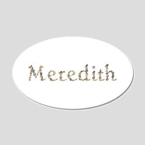 Meredith Seashells 20x12 Oval Wall Decal