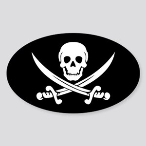 PIRATE! Oval Sticker