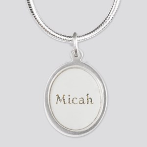 Micah Seashells Silver Oval Necklace