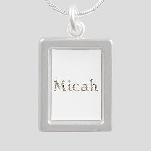 Micah Seashells Silver Portrait Necklace