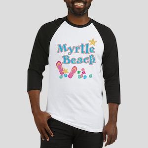 Myrtle Beach Flip Flops - Baseball Jersey