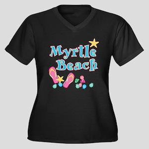 Myrtle Beach Flip Flops - Women's Plus Size V-Nec