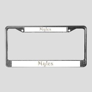 Myles Seashells License Plate Frame