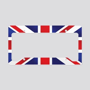 Union Jack UK Flag License Plate Holder