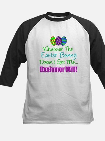 Easter Bunny Doesn't Bestemor Will Baseball Jersey