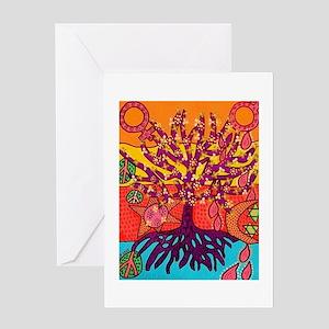 Tree Of Life Peace & Sorrow - Tree Greeting Cards