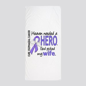 Esophageal Cancer HeavenNeededHero1 Beach Towel