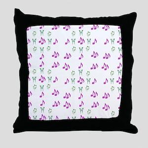 Butterflies & Notes Throw Pillow