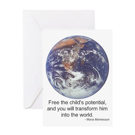Montessori World Greeting Card