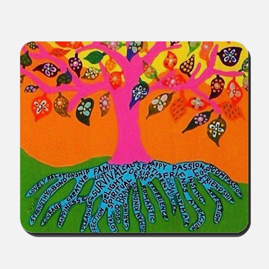 The Root of Knowledge - Tree of Life - J Mousepad