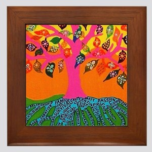 The Root of Knowledge - Tree of Life - Framed Tile