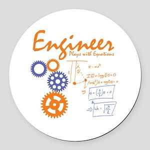 Engineer tshirt Round Car Magnet