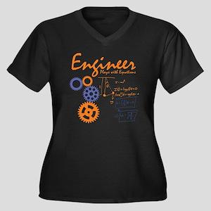 Engineer tsh Women's Plus Size V-Neck Dark T-Shirt