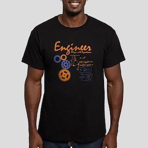 Engineer tshirt Men's Fitted T-Shirt (dark)