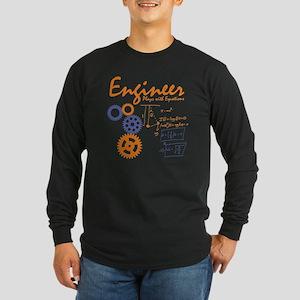 Engineer tshirt Long Sleeve Dark T-Shirt