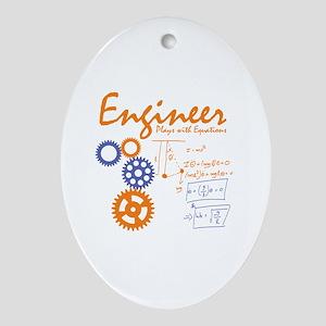 Engineer tshirt Oval Ornament