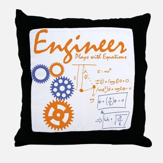 Engineer tshirt Throw Pillow
