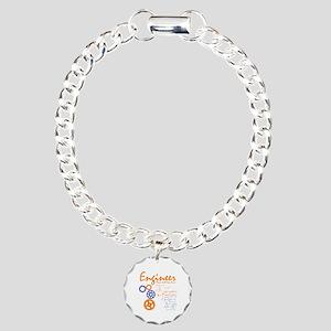 Engineer tshirt Charm Bracelet, One Charm