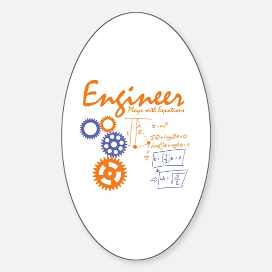 Engineer tshirt Sticker (Oval)