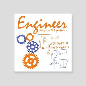 """Engineer tshirt Square Sticker 3"""" x 3"""""""