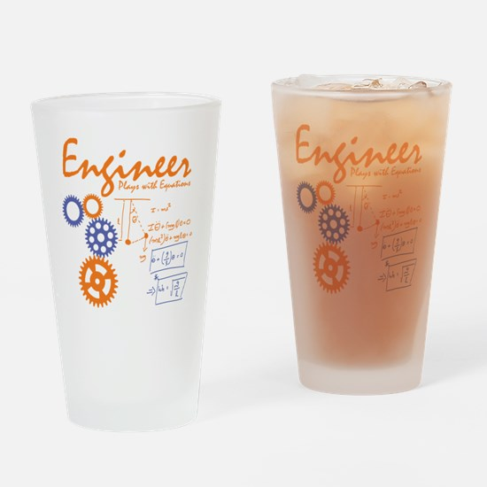 Engineer tshirt Drinking Glass