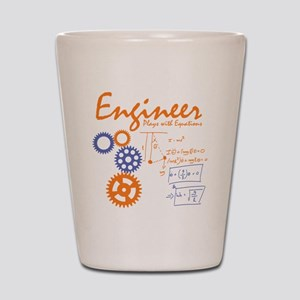 Engineer tshirt Shot Glass