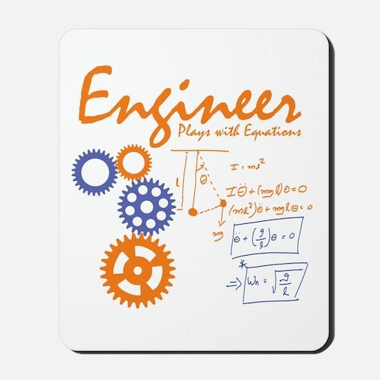 Engineer tshirt Mousepad