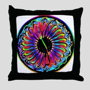 Sumi Style Mandala Throw Pillow