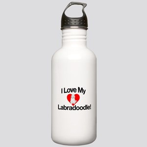 I LOVE MY LABRADOODLE Water Bottle