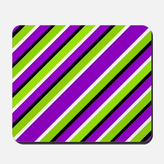 Straight Green And Purple Mousepad