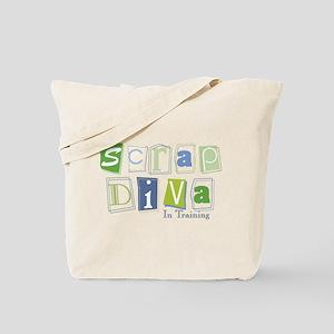 Scrap Diva (IT) Blue Tote Bag