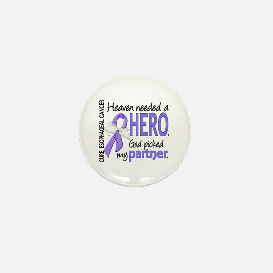 Esophageal Cancer HeavenNeededHero1 Mini Button
