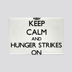 Keep Calm and Hunger Strikes ON Magnets