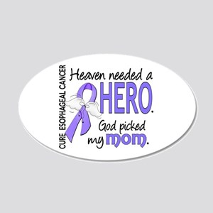 Esophageal Cancer HeavenNeed 20x12 Oval Wall Decal