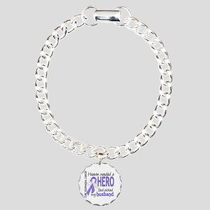 Esophageal Cancer Heaven Charm Bracelet, One Charm