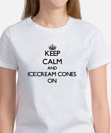 Keep Calm and Ice-Cream Cones ON T-Shirt