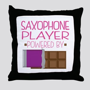 Saxophone Player (Funny) Throw Pillow