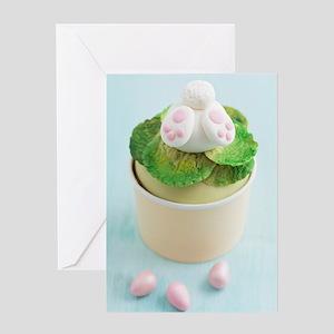 Easter bunny cupcake Greeting Card