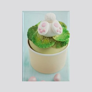 Easter bunny cupcake Rectangle Magnet