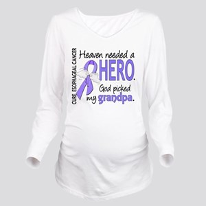 Esophageal Cancer He Long Sleeve Maternity T-Shirt